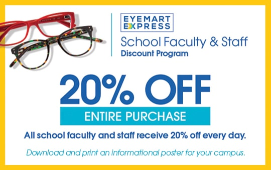 2f4076379ca Just bring in your valid school or university ID for 20% off your total  purchase – every day.